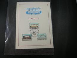 """BELG.1983 2079 2080 & 2081  FDC Filatelic Card  ( Lichtervelde) :"""" TRAM """" - FDC"""