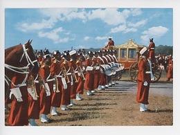 Maroc - Majesté Hassan II (cp Vierge) Carrosse - Morocco