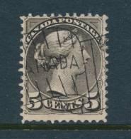 CANADA, 1889 WELL-CENTERED And FINE  5c Deep Brownish Grey (2nd Ottawa Print) - 1851-1902 Regering Van Victoria