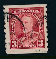 CANADA, 1935 WELL-CENTERED And FINE  3c Coil Stamp P Imperf X8 - Gebruikt