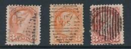 CANADA, 1870 3c Dull Red, Orange-red, Rose-carmine , Fine - 1851-1902 Regering Van Victoria