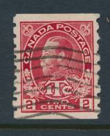 CANADA, 1916 WELL-CENTERED And FINE  2c+1c Coil Stamp P Imperf X8, Cat £12 - Gebruikt