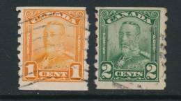 CANADA, 1928 P Imperfx X8 Coil Stamps Set , Fine, Cat £36 - Gebruikt