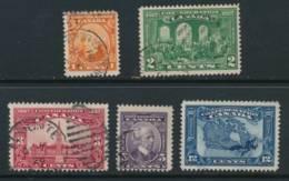 CANADA, 1927 Confederation Set (5 Stamps) , Fine, Cat £20 - Gebruikt