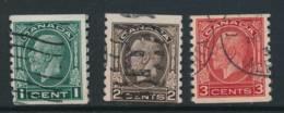CANADA, 1932 Coil Stamp Set P Imperf X 8 , Fine, Cat £15 - Gebruikt