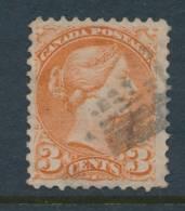 CANADA, 1873 3c Orange-red P11½x12 , Fine, SG96, Cat £24 - 1851-1902 Regering Van Victoria