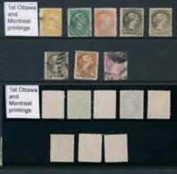 CANADA, 1870 Set (montreal And 1st Ottawa Prinings) , Fine, Cat £116 - 1851-1902 Regering Van Victoria