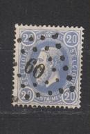 COB 31 Oblitération à Points 60 BRUXELLES +1 - 1869-1883 Léopold II
