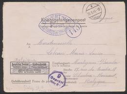 """Guerre 40-45 - Lettre """"Kriegsgefangenenpost"""" Expédié Du Stalag IV F (1944) Vers Montignies Sur Sambre / Censure De Contr - Guerra 40 – 45"""