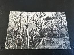 Unser Kaiser In Einem Hüttenlager (l'Empereur Visite De Troupes Sur Le Front) - 1915 Timbrée - Guerre 1914-18