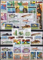 50 Topics-stamps+Block ** 52€ Fische Fußball Natur Columbus Architektur Musik Medica Topic Collection M/s Bf BRAZIL - Brazil