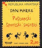 CROATIA 2008 - 1v - MNH - Stamp Day Post - Sport Meetings Fußball - Tennis Handball Football Fútbol - Tenis - Balonmano - Dag Van De Postzegel