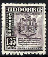 Andorra Española Nº 55 Con Charnela - Andorra Española