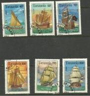 Tanzania - 1994 Sailing Ships  CTO    SG 1791-6  Sc 1209-14 - Tanzania (1964-...)