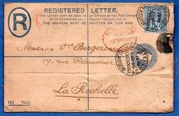 Grande Bretagne  --  Entier Postal  - De Londres  -  Pour La Rochelle   -  13 Avril 1900 - Stamped Stationery, Airletters & Aerogrammes