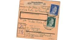 Colis Postal  -  Départ Wünschelburg  - Pour Thedingen - Kochern  ( Théding - Cocheren ) - Germany