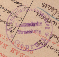 Carte Postale PG En Russie - PG Alsacien - Obl 09.09.1915  Pour Sarre Union Avec Censure/Zensur/Censored + Strasbourg PG - Marcofilia (sobres)