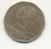 RARE ERREUR 50 Pesos Br-alu 1999  CHILI ERREUR CHIIE   VOIR SCANS - Chile