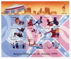 Lote 2122, Nicaragua, 1996, Pliego, Sheet, Summer Olympic Games, Atlanta, Deportes, Juegos Olimpicos, Ball - Nicaragua