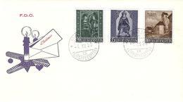 Liechtenstein 1958: Weihnacht Noel Xmas Zu 318-320 Mi 374-376 Yv 336-338  FDC Mit O VADUZ 4.XII.58 (Zumstein CHF 30.00) - FDC