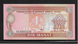 Turkménistan - 1 Manat - Pick N°1 - NEUF - Turkmenistan