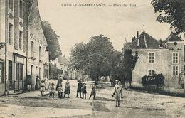 Cheilly Les Maranges Place Du Haut  Edit Bardollet  Hotel Du Lion D' Or - Autres Communes