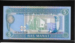 Turkménistan - 5 Manat - Pick N°2 - NEUF - Turkmenistan