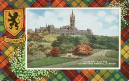 BUCHANAN-UNIVERSITY AND THE CAMERONIANS MEMORIAL-GLASGOW- VIAGGIATA 1964 - Lanarkshire / Glasgow