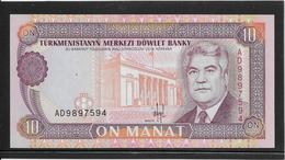 Turkménistan - 10 Manat - Pick N°3 - NEUF - Turkménistan