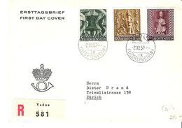 Liechtenstein 1959: Weihnacht Noel Xmas Zu 342-344 Mi 386-388 Yv 350-352 R-FDC Mit O VADUZ 2.XII.59 (Zumstein CHF 30.00) - FDC