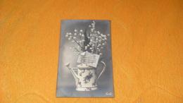 CARTE POSTALE ANCIENNE CIRCULEE DE 1911.../ SOUVENIR DE SOUVENIR DE PRINTEMPS PRINTEMPS..FLEURS DANS PETIT ARROSOIR.. - Flowers