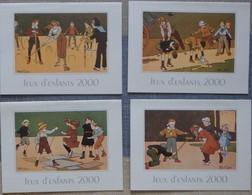 Petit Calendrier Poche Lot 4 Calendriers  2000 Jeux Enfants Colin Maillard Saute Mouton Croquet Illustration Tapabor - Calendars