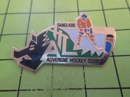 415c Pins Pin's / Rare & Belle Qualité THEME SPORTS / AUVERGNE HOCKEY CLUB SANGLIERS - Sports D'hiver
