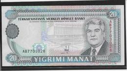 Turkménistan - 20 Manat - Pick N°4 - NEUF - Turkménistan