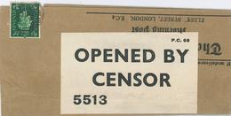 Zeitungsschleife Opened B Censor Zeitungsschleife Censor 5513 - Permit B50 [Switzerland] - 1902-1951 (Kings)