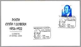 Poeta COSTA I LLOBERA (1854-1922). Lloseta, Baleares, 2004 - Escritores