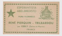 Honey Label From France With Esperanto Text - Mielo-etikedo El Francio Kun Esperanto Teksto - Reclame