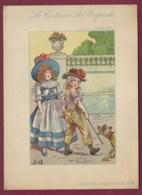 160719 - CHROMO Grand Format Illustrateur JOB Aquarelle Originale - Costume Enfants Sous LOUIS XVI - AU PRINTEMPS ParisS - Other