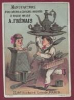 160719 - CHROMO Manufacture Orfèvrerie Couvert Argent Massif A FRENAIS Paris Tarif Prix - Imp F RAMARD - Other