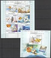 T355 2010 MOZAMBIQUE MOCAMBIQUE SPACE JAPONESA DA JAXA A VENUS IKAROS 1SH+1BL MNH - Spazio