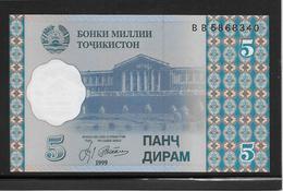Tadjikistan - 5 Dirams - Pick N°11 - NEUF - Tadjikistan
