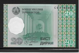 Tadjikistan - 20 Dirams - Pick N°12 - NEUF - Tadschikistan