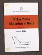 Sport 17° Gran Premio Lotteria Autodromo Monza - Formula 3 - 1975 - Regolamento - Altri