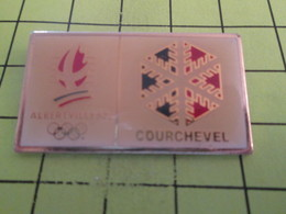 516b Pins Pin's / Rare & Belle Qualité THEME JEUX OLYMPIQUES / ALBERTVILLE 1992 STATION COURCHEVEL - Olympic Games