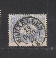 COB 31 Oblitération Centrale Double Cercle BRUXELLES - 1869-1883 Leopold II.