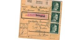 Colis Postal  -  Départ Zwickau ( Bz Aussig ) - Pour Thedingen - Kochern ( Théding Cocheren ) - Covers & Documents