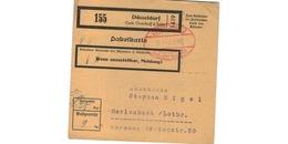 Colis Postal  -  Départ Düsseldorf - Germany