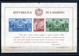 1945 - SAINT-MARIN - SAN MARINO - Catg. Unif. BF 7 - NH - (SM2017.27...) - Blocchi & Foglietti