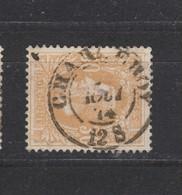 COB 33 Oblitération Centrale Double Cercle CHARLEROY - 1869-1883 Léopold II