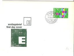 Liechtenstein 1960:  Europa-CEPT Zu 348 Mi 398 Yv 355 Auf FDC Mit O VADUZ 19.IX.60 (Zumstein CHF 90.00) - FDC